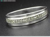 STERLIG SILVER MEN'S DIAMOND WEDDING BAND SZ.11